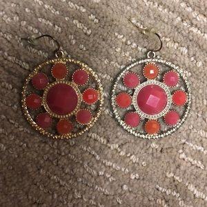Pink and Orange Earrings